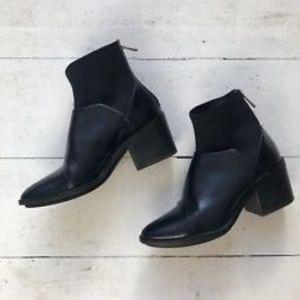 Zara Block Heel Ankle Boots Sock-style (Used)